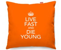 Kico Keep Calm 45x45cm Funky Sofa Cushion -  Live Fast