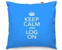 Kico Keep Calm 45x45cm Funky Sofa Cushion -  Log On