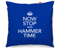 Kico Keep Calm 45x45cm Funky Sofa Cushion -  Now Stop & Hammer Time