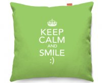 Kico Keep Calm 45x45cm Funky Sofa Cushion -  Smile