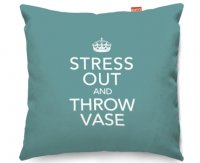 Kico Keep Calm 45x45cm Funky Sofa Cushion -  Stress Out & Throw Vase