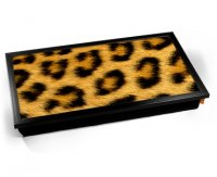 Kico Animal Skin Cushion 32 x 41cm Lap Tray  - Leopard