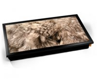 Kico Animal Skin Cushion 32 x 41cm Lap Tray  - Rabbit