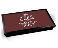 Kico Keep Calm Cushion 32 x 41cm Lap Tray  - Have a Pint