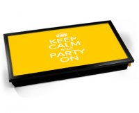 Kico Keep Calm Cushion 32 x 41cm Lap Tray  - Party On