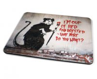 Kico Banksy Placemat - Out of bed Rat