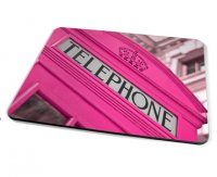 Kico Iconic Placemat - Pink Phonebox