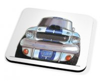 Kico Automotive Coaster - Shelby Mustang Blue