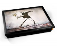 Kico Banksy Cushion 32 x 41cm Lap Tray  - Thug Flowers