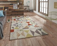 Think Rugs Fiona Howard Harlequin FH02 - Various Sizes