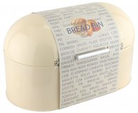 Apollo Housewares Metal Bread Bin - Cream