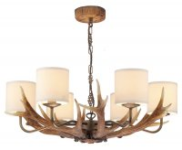 David Hunt Antler 6 Light Pendant with Shades