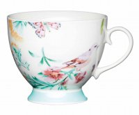 KitchenCraft Fine Bone China Footed Mug 400ml - White Birds