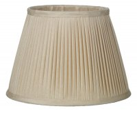 David Hunt Trinity Pleated Silk Shade Taupe