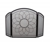 Manor Reproductions Sunflower 3 Fold - Black - 76x66 + 32 wings