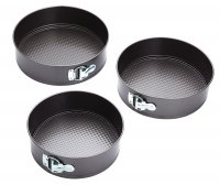 KitchenCraft Non-Stick Spring Form Cake Pans Set of 3