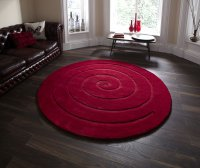 Think Rugs Spiral Red - Various Sizes