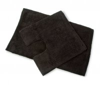 Blue Canyon Premier 2 Piece Cotton Bath Mat Set in Black