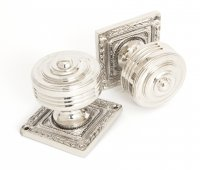 Polished Nickel Tewkesbury Square Mortice Knob Set