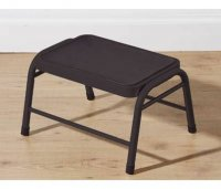 Premier Black Metal Step Stool with Black Rubber Mat