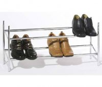 Premier Chrome Extendable 2 Tier Shoe Storage Rack