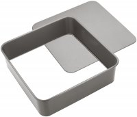 Judge Bakeware Square Cake Tin Loose Base 25 x 25 x 7cm / 10 x 10 x 2¾""