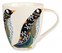 Queens By Churchill Couture Paradise Birds Crush Mug 500ml - Penguin