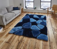 Think Rugs Noble House NH5858 Blue - Various Sizes