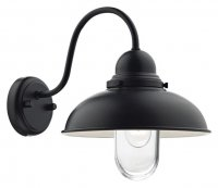 Dar Dynamo 1 Light Wall Bracket Matt Black IP44