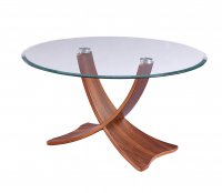 Jual Siena Coffee Table in Walnut & Glass