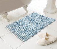 Country Club Juno Design Luxury Bath Mat - Blue