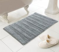 Country Club Madison Design 100% Cotton Bath Mat - Grey