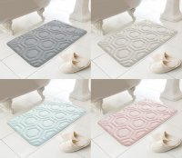 Country Club Geo Design Memory Foam Bath Mat - Assorted