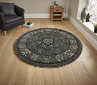 Think Rugs Heritage 4400 Silver Circle - Various Sizes