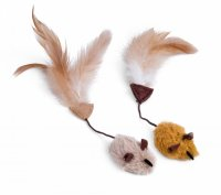 Petface Catkins Feather Tail Mice (Pack of 2)