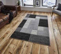 Think Rugs Matrix A0221 Black - Various Sizes