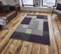 Think Rugs Matrix A0221 Grey/Lilac - Various Sizes