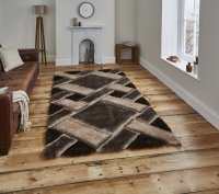 Think Rugs Noble House NH9716 Beige/Brown - Various Sizes