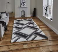 Think Rugs Noble House NH9716 Grey/Ivory - Various Sizes