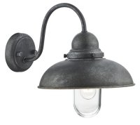 Dar Dynamo 1 Light Wall Bracket Aged Iron IP44