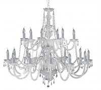 Searchlight Hale Chrome Georgian Crystal Chandelier