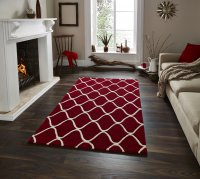 Think Rugs Elements EL 65 Red - Various Sizes