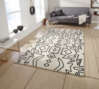Think Rugs Spectrum SP41 White/Black