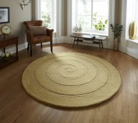 Think Rugs Spiral Gold - Various Sizes