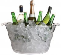 mix it clear acrylic large oval drinks pail/cooler,
