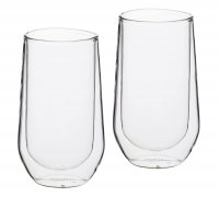 Le'Xpress Double Walled Glass Highball Glasses Set of 2 380ml