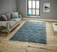 Think Rugs Noble House NH30782 Blue - Various Sizes