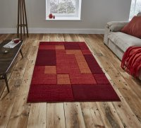 Think Rugs Matrix A0221 Red - Various Sizes