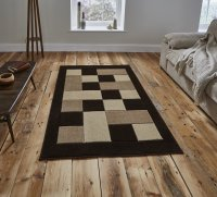 Think Rugs Matrix MT04 Brown/Beige - Various Sizes