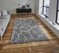 Think Rugs Noble House NH5858 Silver - Various Sizes
